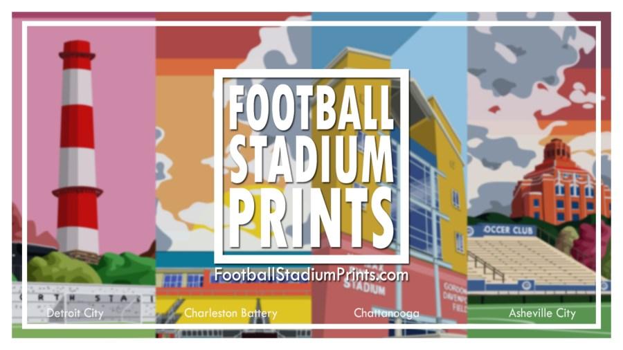Football Stadium Wall Art prints of USA & Canada soccer stadiums