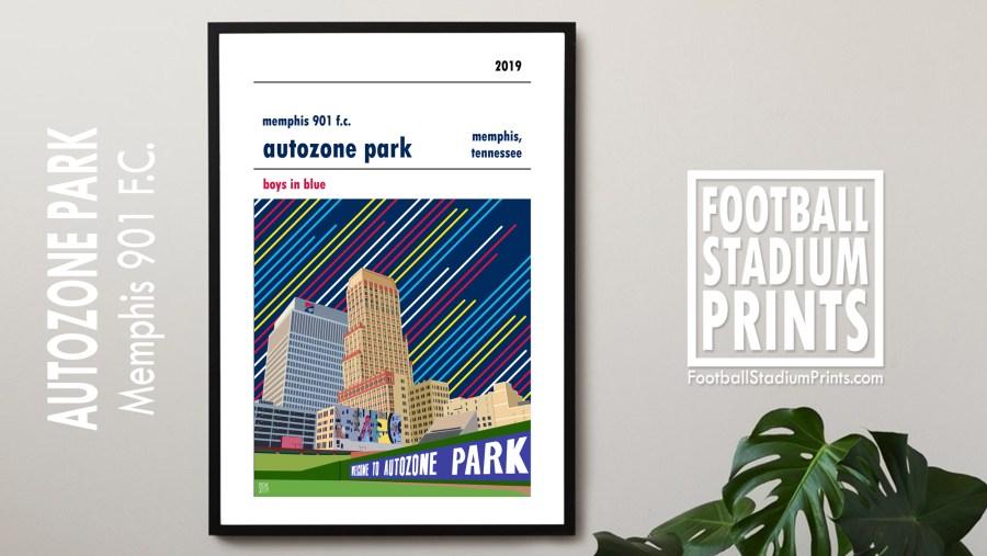 Framed Memphis 901 FC poster