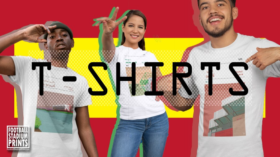 Football Stadium Prints t-shirts