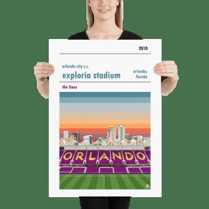 A Orlando City SC soccer print of Exploria Stadium
