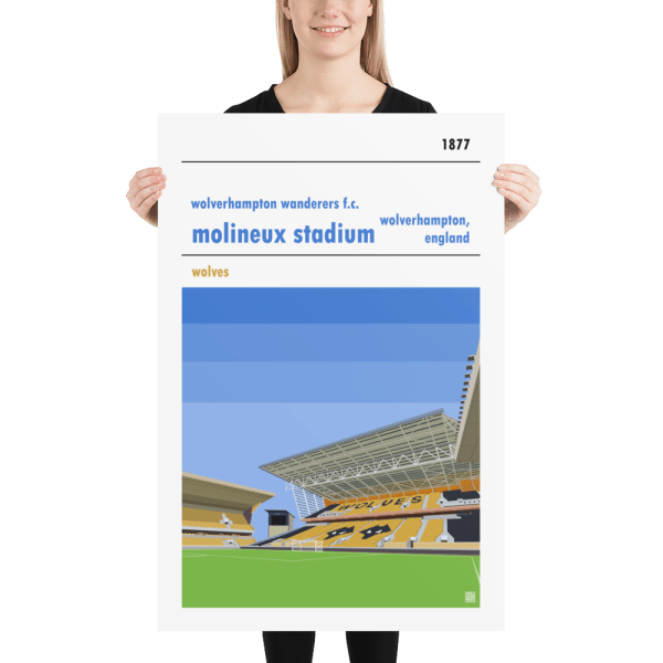 Huge Wolverhampton Wanderers FC and Molineux football poster