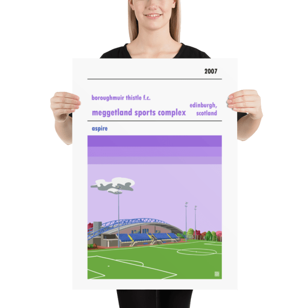 Football poster of Boroughmuir Thistle Fc and Meggetland large