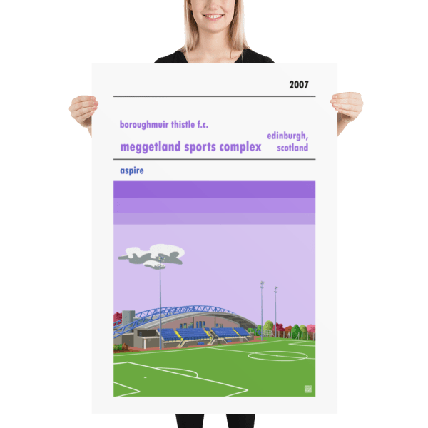Football poster of Boroughmuir Thistle Fc and Meggetland Massive