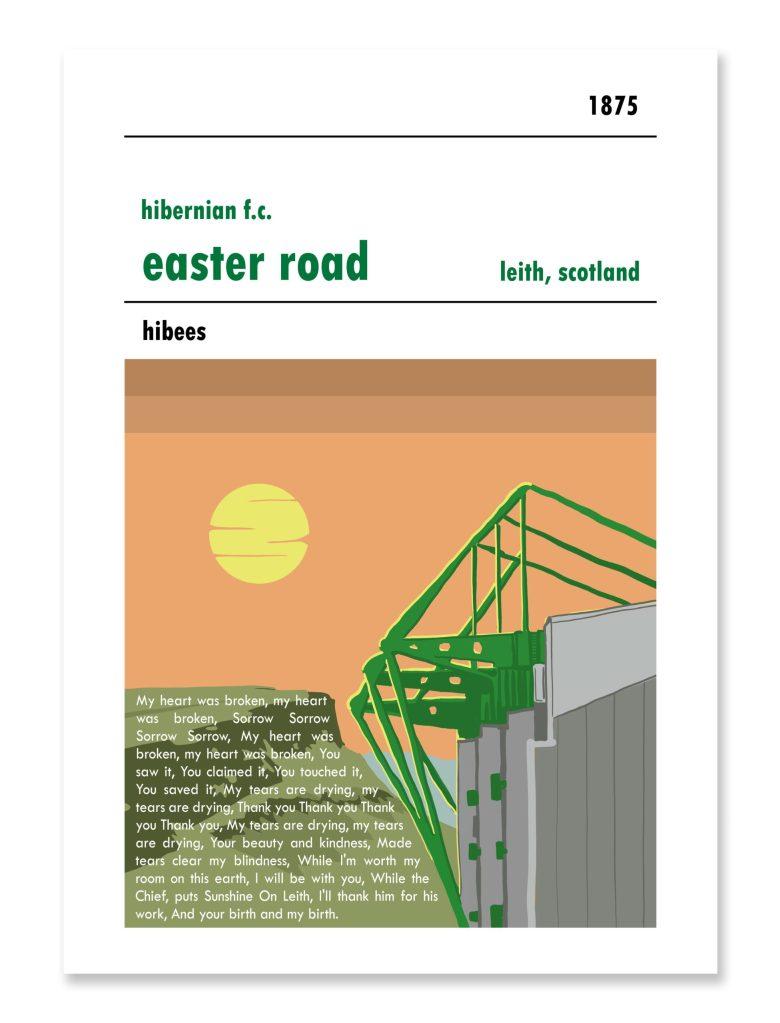 Personalised Hibs Football Print