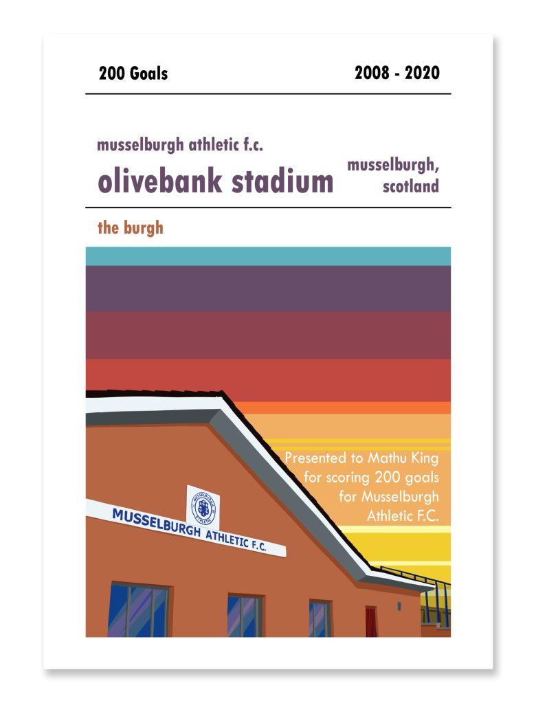 Personalised Musselburgh Athletic Football Print