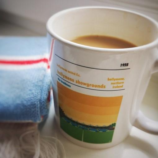 Football mug of Ballymena United F