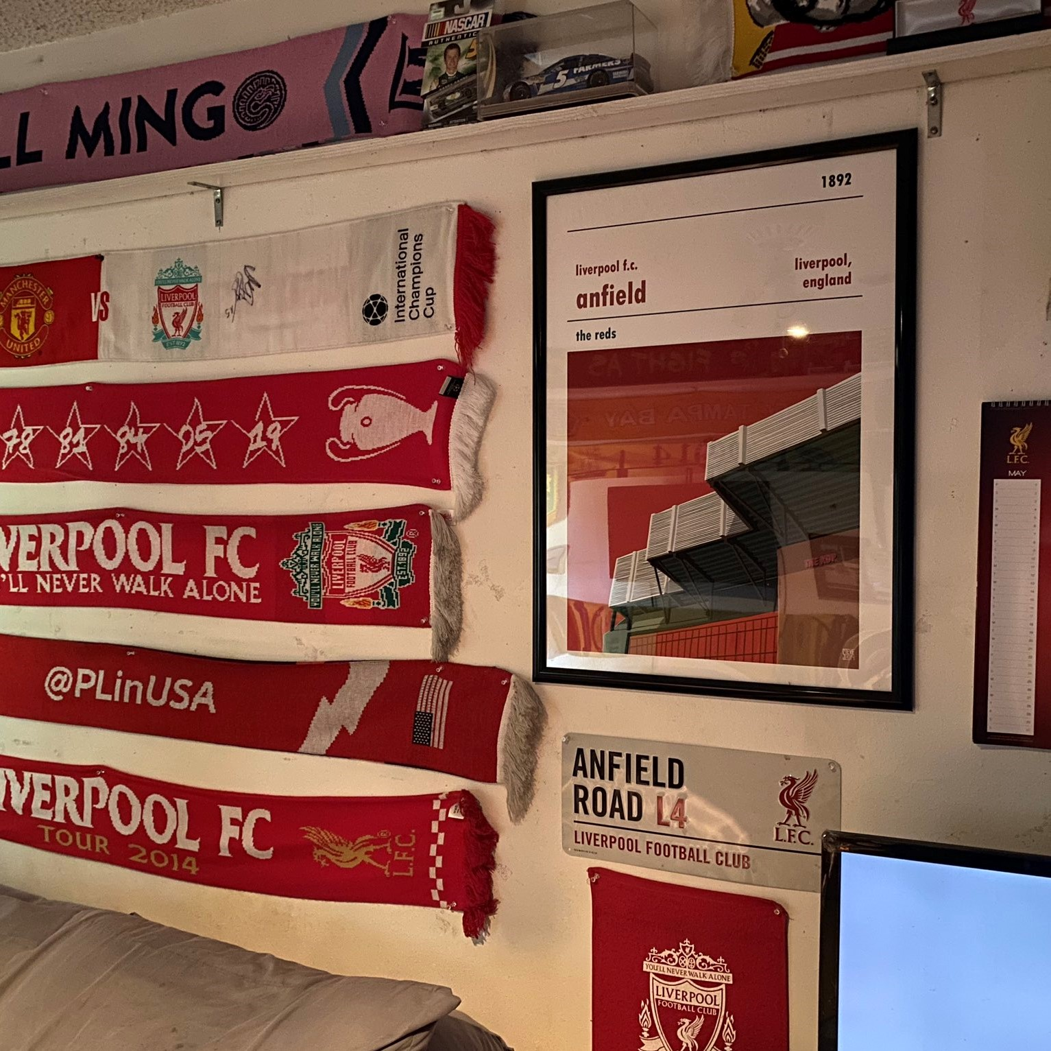 Football Print of Liverpool FC and Anfield