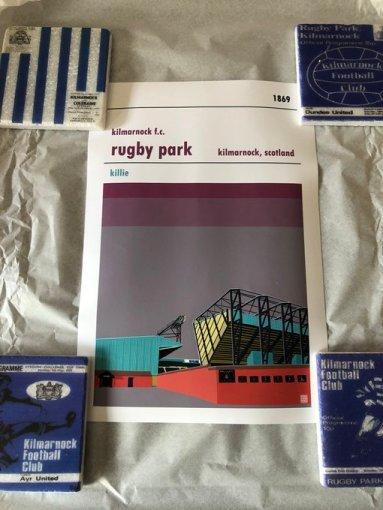 Football Print of Rugby Park, Kilmarnock