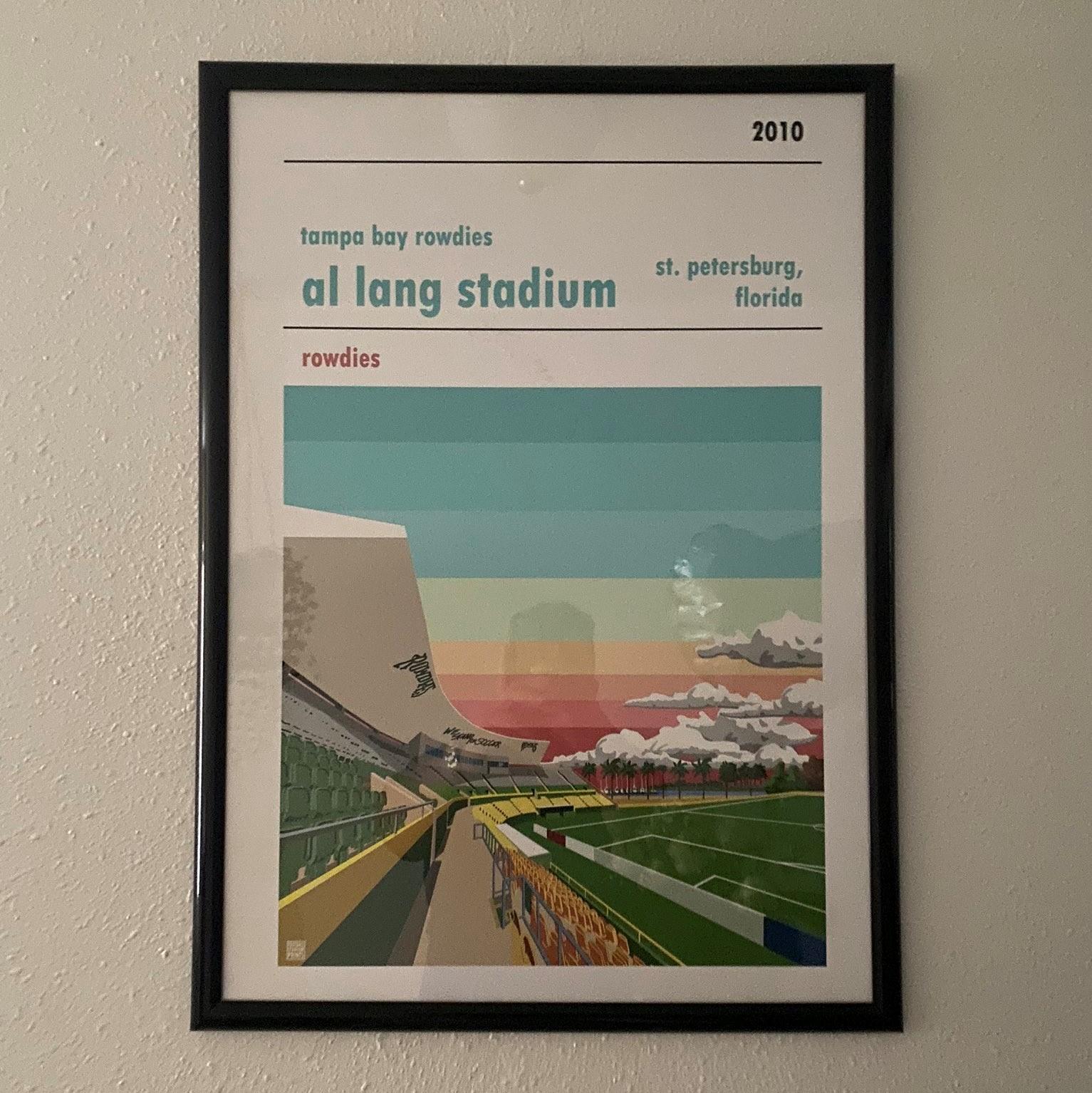 Football Prints of Tampa Bay Rowdies