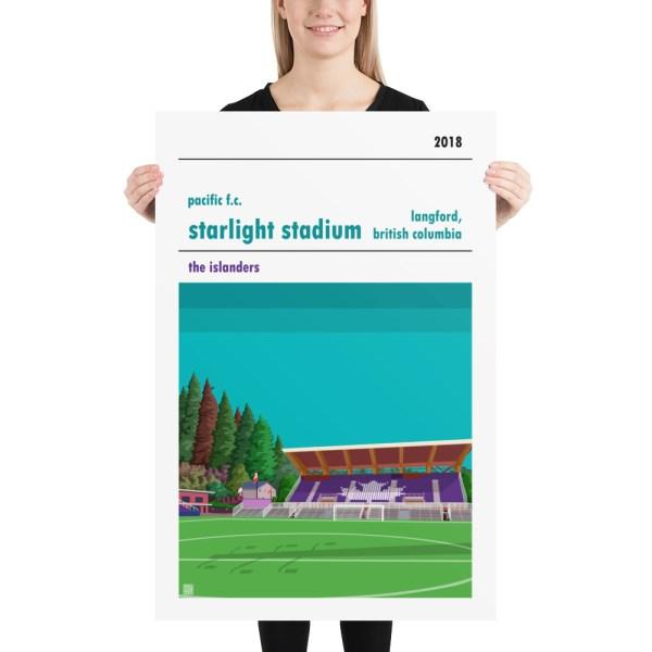 Huge Pacific FC and Starlight Stadium football poster