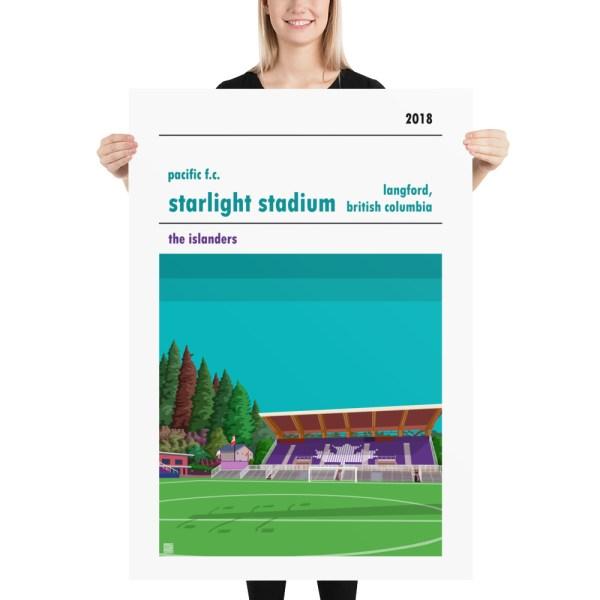 Massive Pacific FC and Starlight Stadium football poster