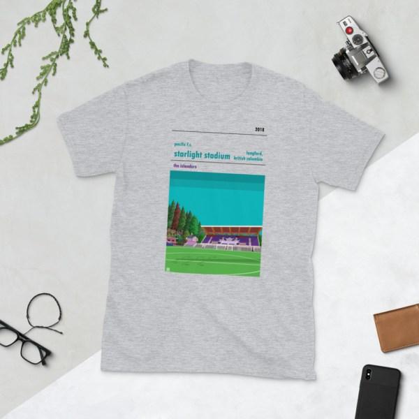 Grey Pacific FC and Starlight Stadium t-shirt