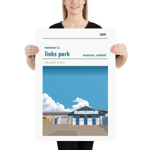 Large football poster of Links Park and Montrose FC