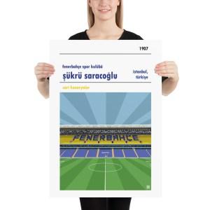 Large football poster of Fenerbahce and Sukru Saracoglu