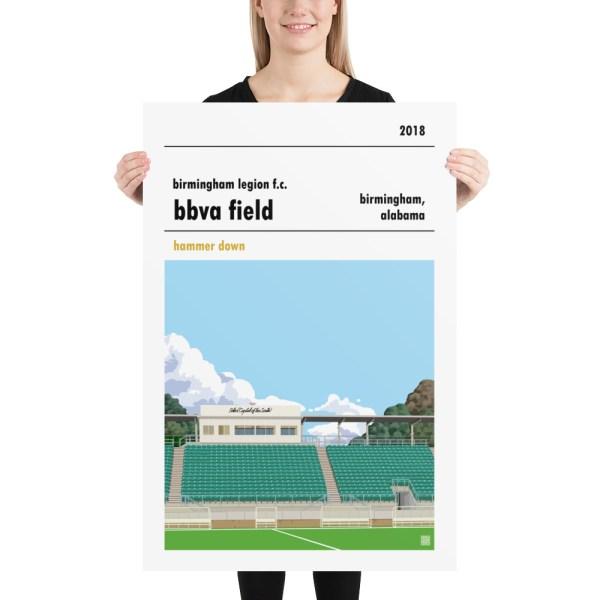 Huge Birmingham Legion and BBVA Field football poster