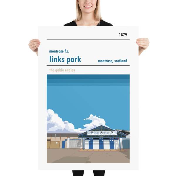 Massive football poster of Links Park and Montrose FC