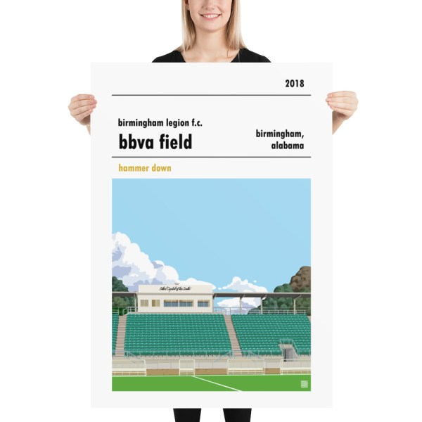 Massive Birmingham Legion and BBVA Field football poster