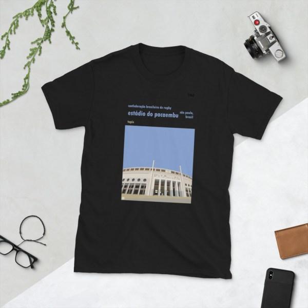 Black Estadio do Pacaembu and Brazilian Rugby t-shirt