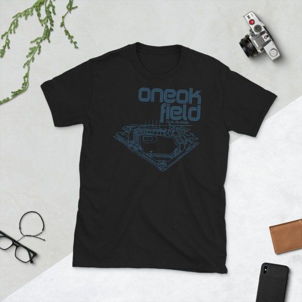 Black ONEOK Field and Tulsa Drillers t-shirt