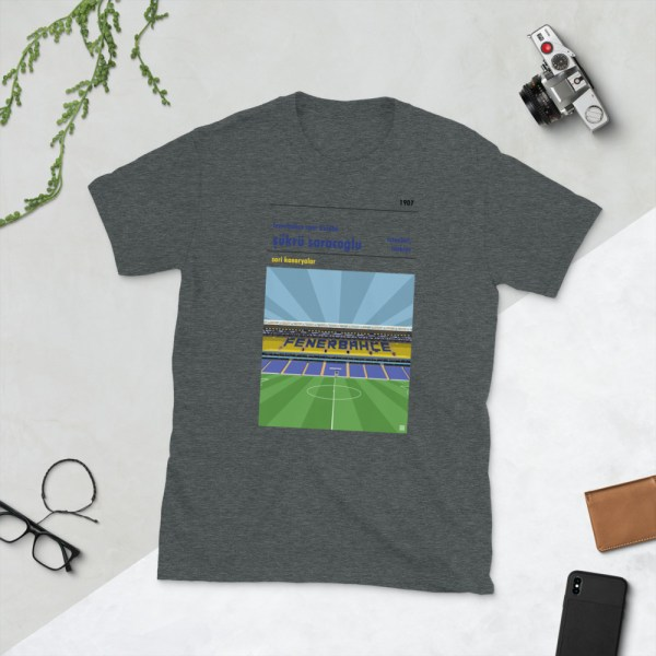 Dark grey Fenerbahce and Sukru Saracoglu t-shirt