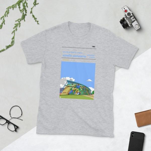 Grey Estadio Centenario and Uruguay national football team t-shirt