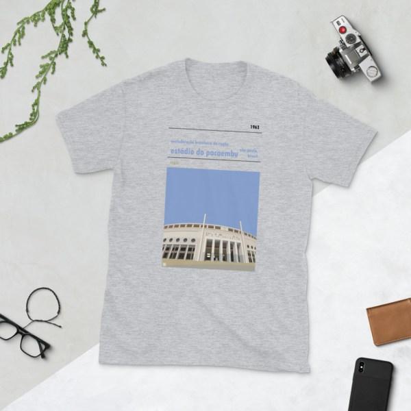 Grey Estadio do Pacaembu and Brazilian Rugby t-shirt