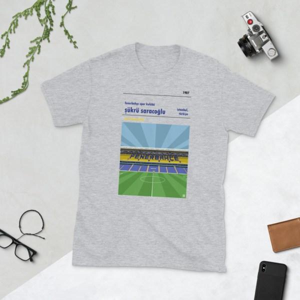 Grey Fenerbahce and Sukru Saracoglu t-shirt