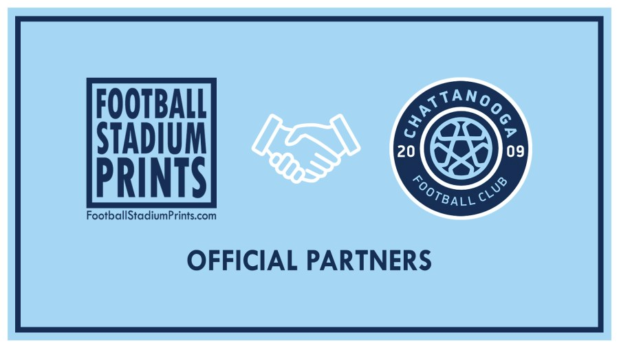 Official partnership with Chattanooga FC and Football stadium Prints
