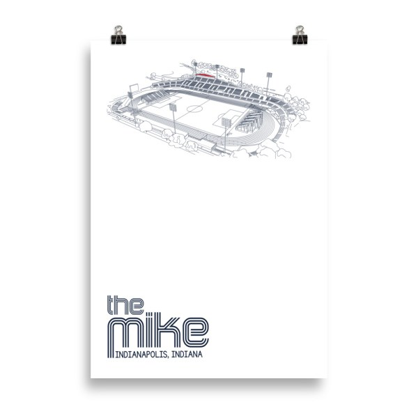 Massive Indy Eleven poster of the Mike