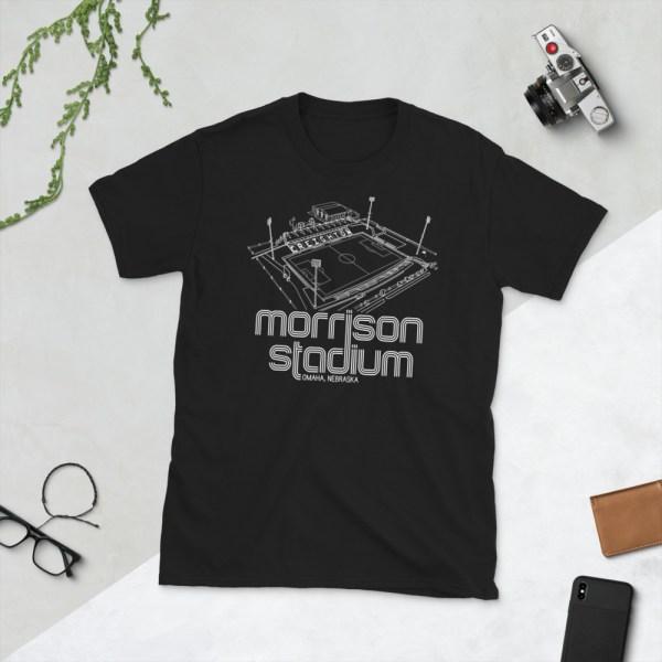 Black Morrison Stadium home to Creighton BlueJays Soccer Team T-Shirt