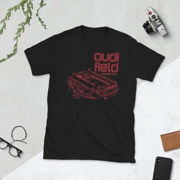 Black DC United and Audi Field tee
