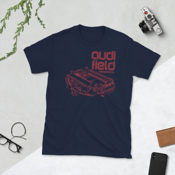 Navy DC United and Audi Field tee