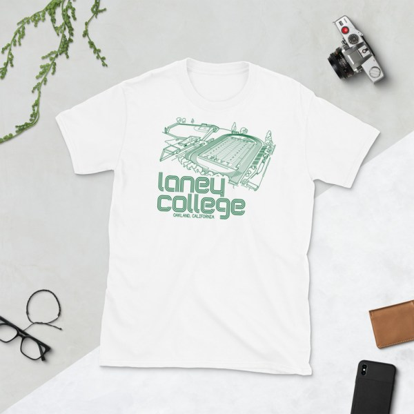 White Laney Community College Football T-Shirt