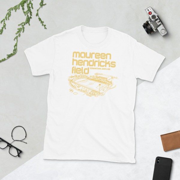 White Maureen Hendricks Field and Maryland Bobcats T-Shirt