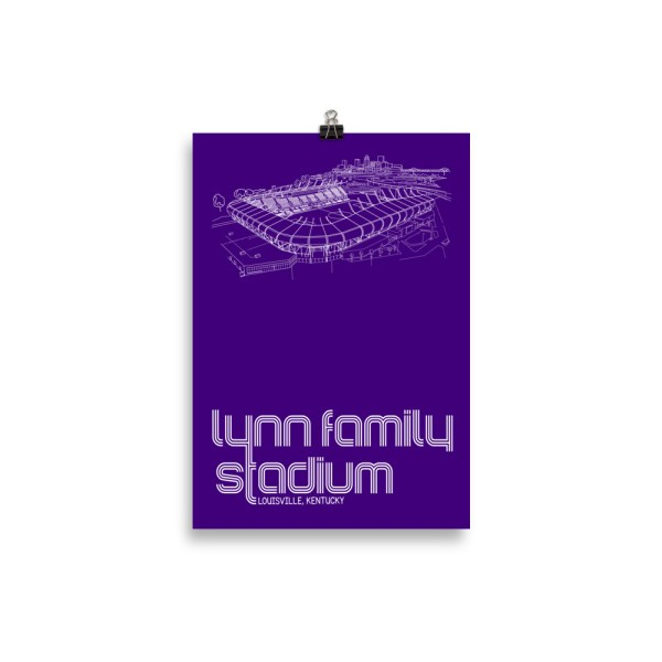 Small Lynn Family Stadium and Louisville City SC poster
