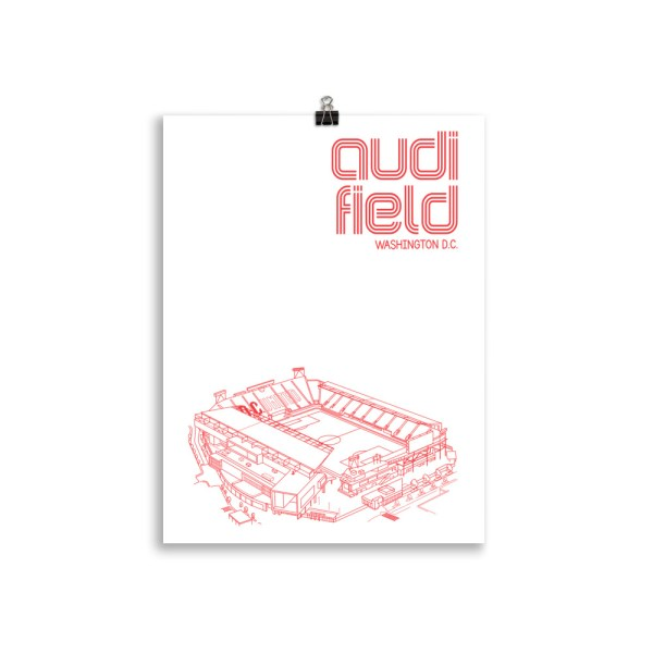 Audi Field and DC United soccer poster