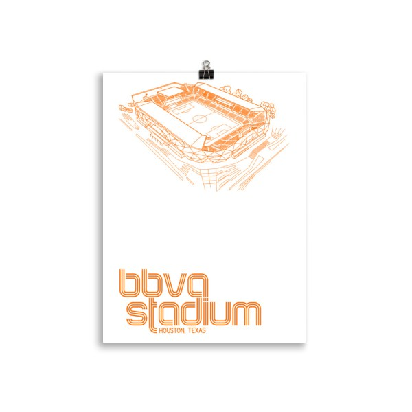 BBVA Stadium and Houston Dynamo and Dash soccer print
