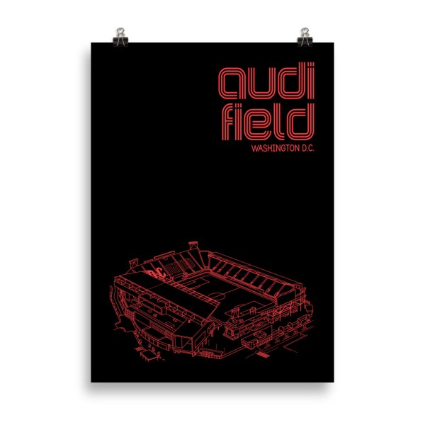 Large Audi Field and DC United soccer poster