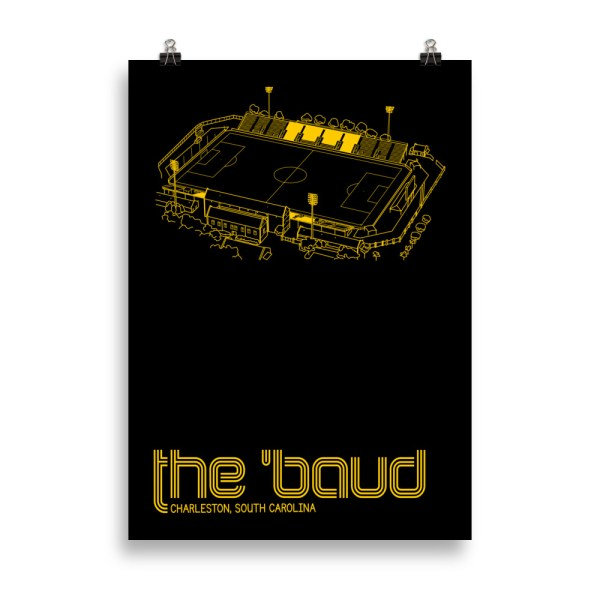 Large Charleston Battery and the Baud soccer print
