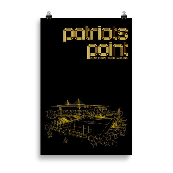 Huge Charleston Battery and Patriots Point soccer print