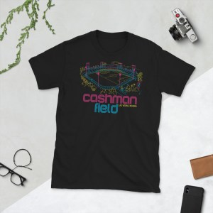 Black Cashman Field and Las Vegas Lights FC T-Shirt