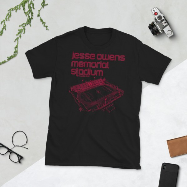 Jesse Owens Memorial Stadium and Ohio State Soccer T-Shirt