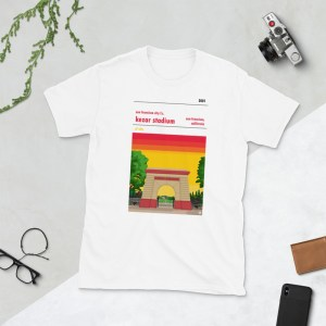 White San Francisco City and Kezar Stadium T-Shirt