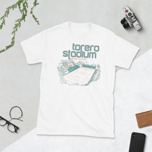 White San Diego Loyal and Torero Stadium t-shirt