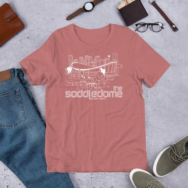 Mauve Saddledome and Calgary Flames T-Shirt
