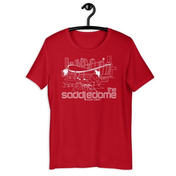 Red Saddledome and Calgary Flames T-Shirt