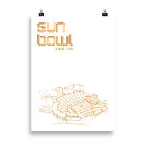 Large Sun Bowl and UTEP Football Print