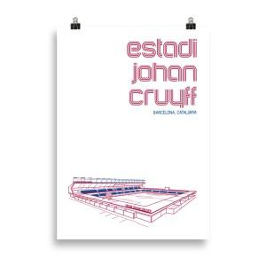 Large Estadi Johan Cruyff Barcelona Print
