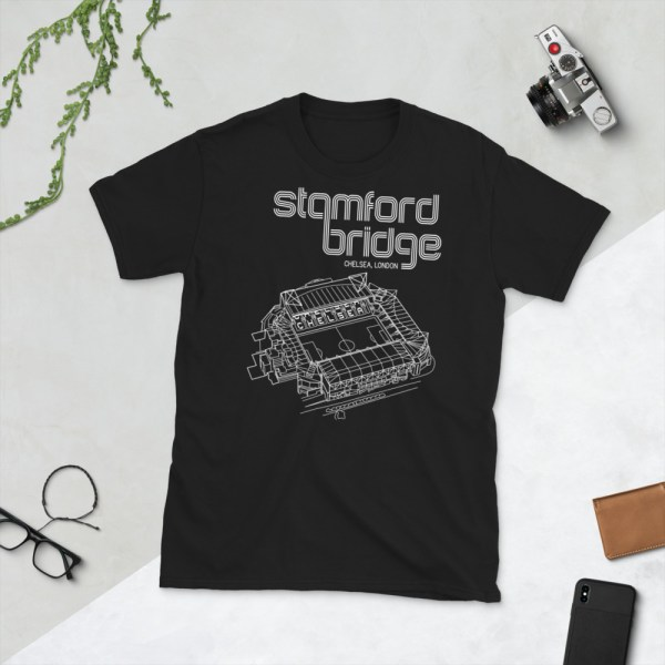 Black Stamford Bridge and Chelsea T-Shirt