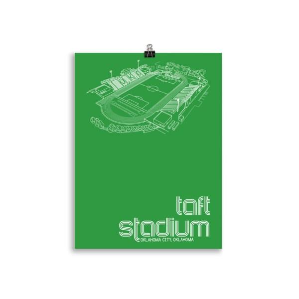 Medium Taft Stadium and OKC Energy FC Soccer Print
